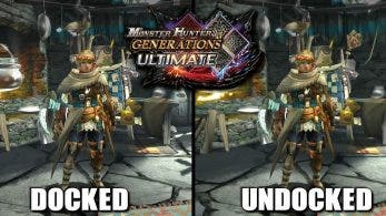 Comparativa en vídeo de Monster Hunter Generations Ultimate: Modo televisión vs. modo portátil