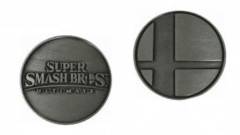 Best Buy ofrece esta moneda plateada a doble cara por la compra de Super Smash Bros. Ultimate