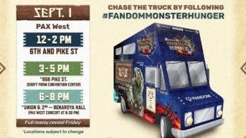Este food truck de Monster Hunter está sirviendo comida temática en la PAX West 2018