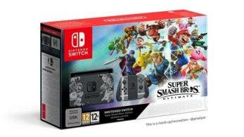 Imaginan cómo luciría el rumoreado pack de Nintendo Switch con Super Smash Bros. Ultimate