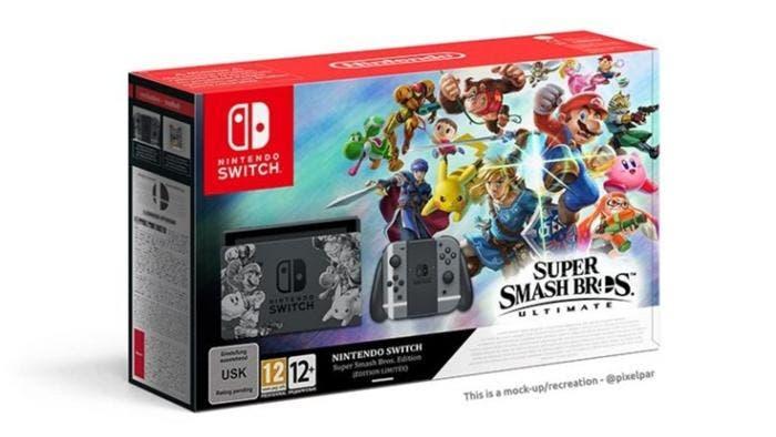 Imaginan cómo luciría el rumoreado pack de Nintendo Switch con Super Smash Bros. Ultimate