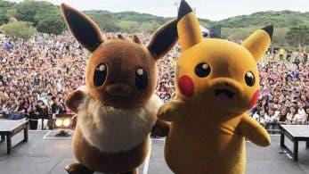 Eevee y Pikachu actúan en Munakata Fest 2018