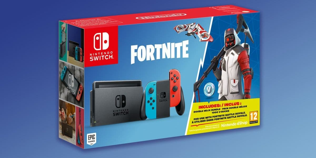 Nintendo y Epic revelan un bundle de Switch con Fortnite