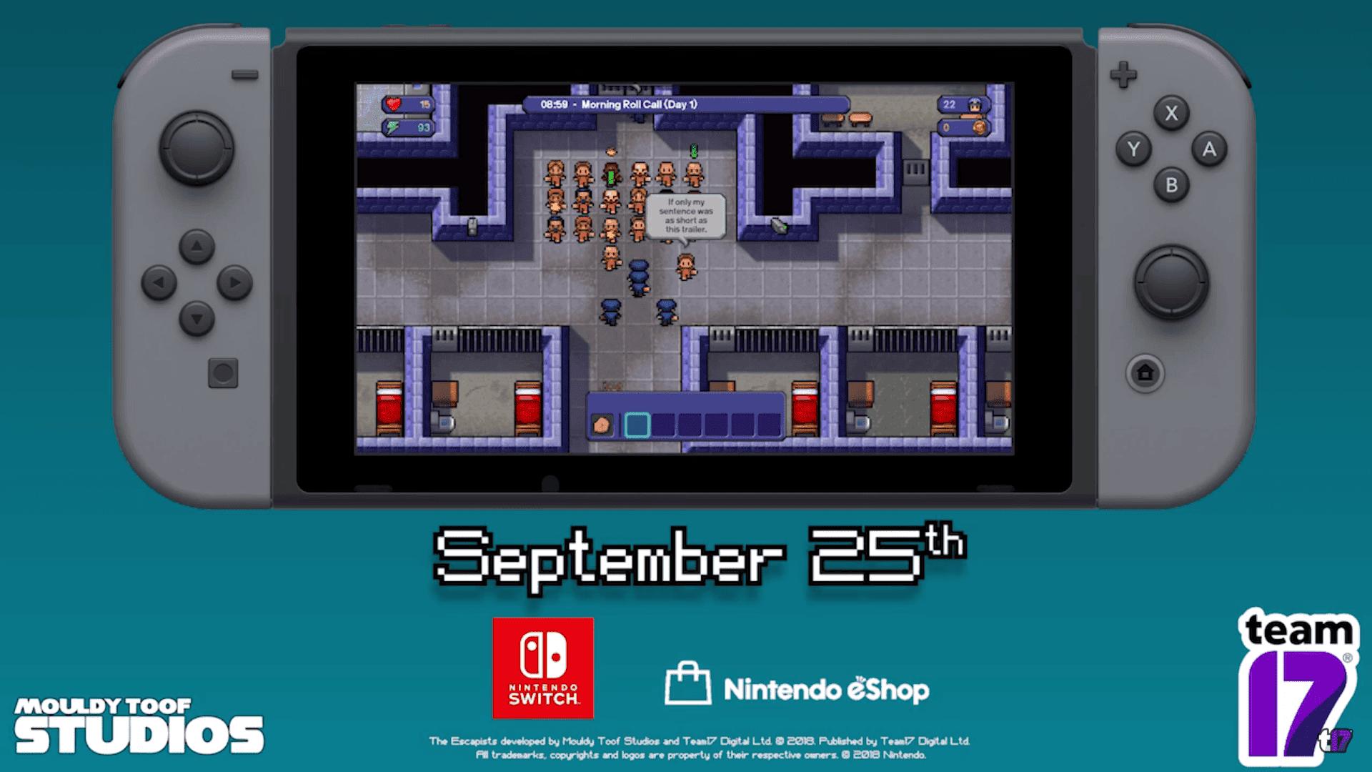 The Escapists: Complete Edition llegará a Nintendo Switch el 25 de septiembre