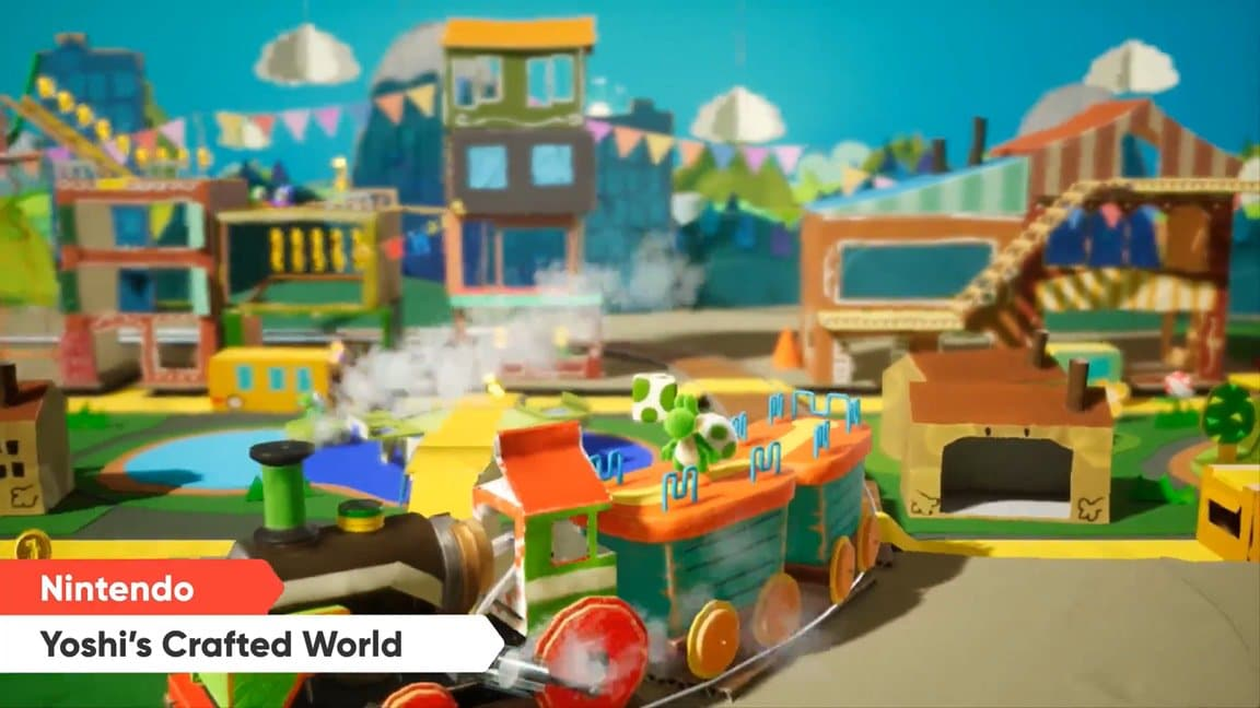 Yoshi's Crafted World llega a Nintendo Switch en la primavera de 2019