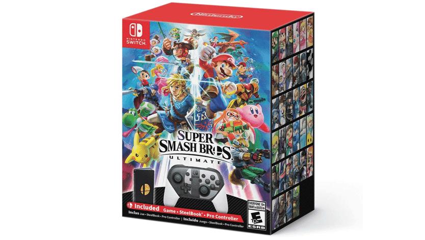 Así luce la caja de la edición especial de Super Smash Bros. Ultimate