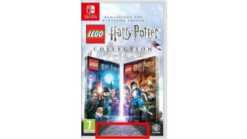 El boxart de LEGO Harry Potter Collection para Switch cuenta con un pequeño error