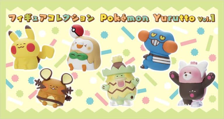 La colección de figuras Pokémon Yurutto ha sido anunciada en Japón