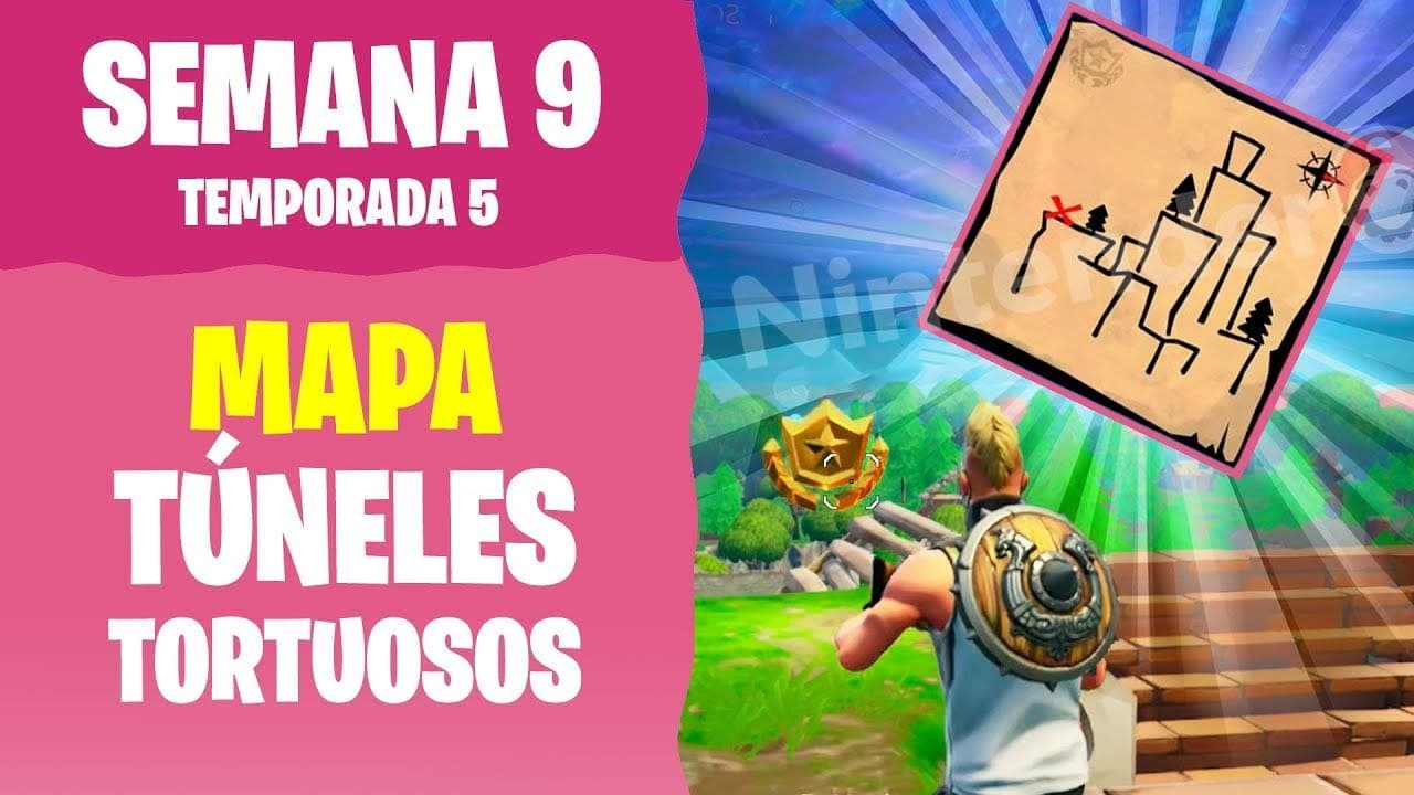 Mapa Tesoro Tuneles Tortuosos.Act Video Fortnite Sigue El Mapa Del Tesoro De Tuneles