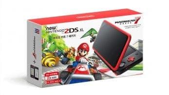 Corea del Sur recibirá el pack de New Nintendo 2DS XL Rojo + Negro con Mario Kart 7