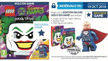 LEGO DC Súper-Villanos contará con una Edición Deluxe exclusiva de tiendas GAME