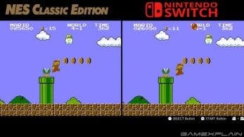 Vídeo comparativa de NES Classic Edition vs. NES en Nintendo Switch