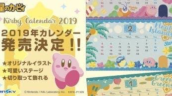 Ya puedes reservar el calendario Kirby 2019 de Ensky