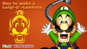 Nintendo lanza una plantilla de la cara de Luigi para las calabazas de Halloween