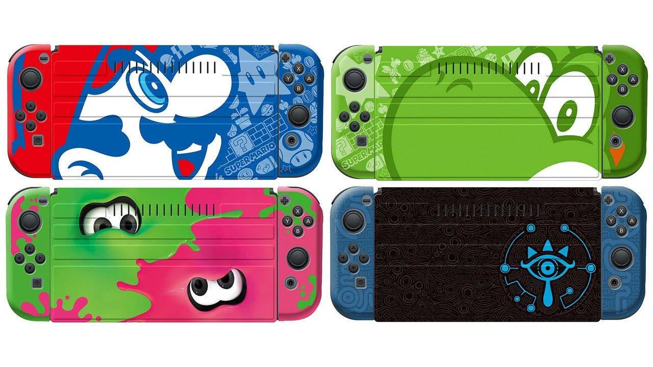 Ya pueden reservarse estas fundas protectoras de Mario, Yoshi, Splatoon y Zelda para Nintendo Switch