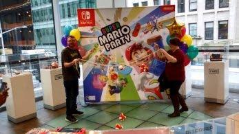 [Act.] Este vídeo nos muestra cómo fue el evento del lanzamiento de Super Mario Party en Nintendo NY