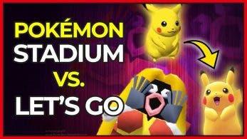 [Vídeo] ¡Pokémon Stadium vs. Let's Go! Torneo retro y evolución de Pokémon 3D de Nintendo 64 a Switch
