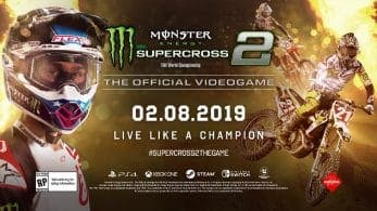 Monster Energy Supercross – The Official Videogame 2 está de camino a Nintendo Switch