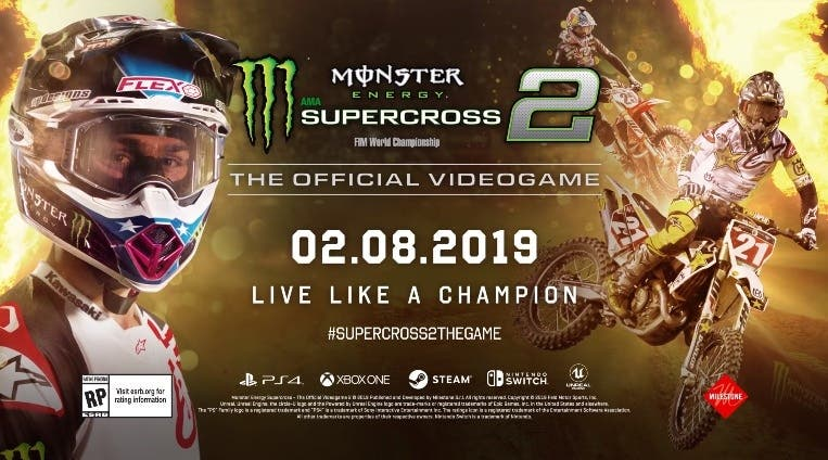 [Act.] Monster Energy Supercross – The Official Videogame 2 está de camino a Nintendo Switch