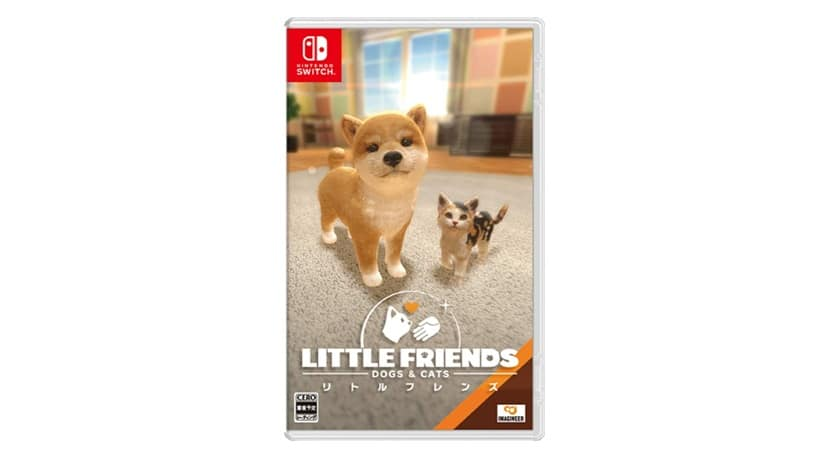 Así luce el boxart japonés de Little Friends: Dogs & Cats para Nintendo Switch