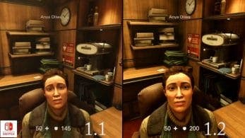 Comparativa en vídeo del parche 1.1 vs. 1.2 en Wolfenstein 2 para Nintendo Switch