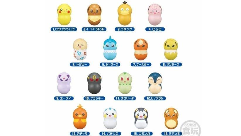 Bandai anuncia las figuritas Pokémon Coonuts 2 para Japón