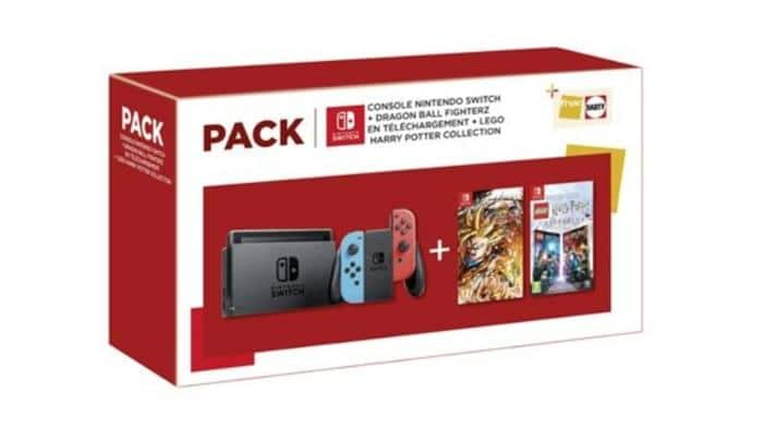 Francia recibirá este peculiar pack de Nintendo Switch con Dragon Ball FighterZ y LEGO Harry Potter Collection