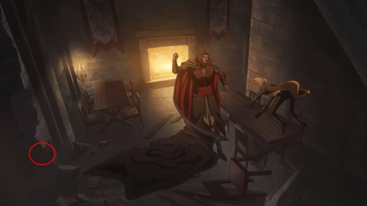 La segunda temporada de la serie de animación de Castlevania hace referencia a un elemento de los videojuegos
