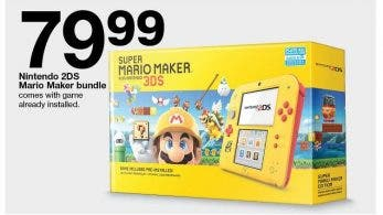 [Act.] Target ofrecerá este pack especial de Nintendo 2DS con Super Mario Maker for 3DS en América