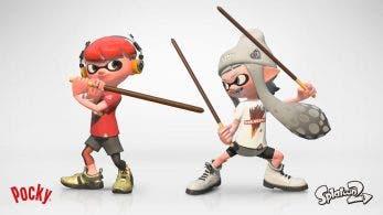 Este es el artwork oficial del próximo Splatfest japonés de Splatoon 2: Pocky Chocolate vs. Pocky Gokuboso