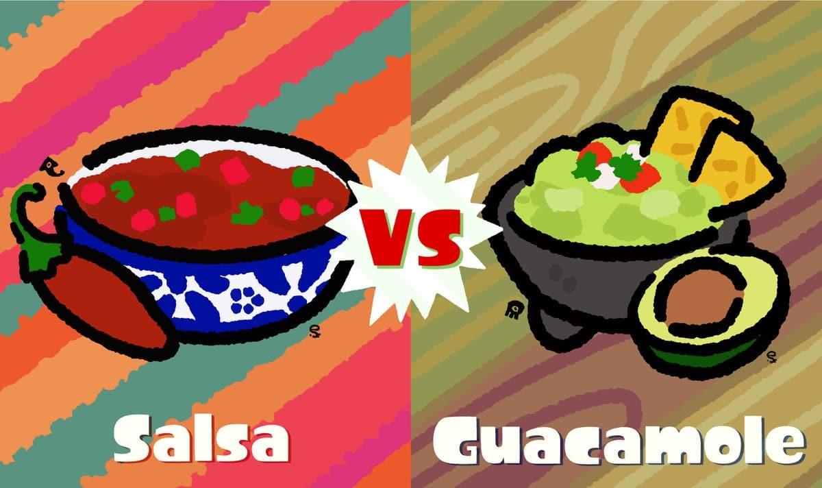 Conoce la nueva temática del próximo Splatfest americano de Splatoon 2: Salsa vs Guacamole
