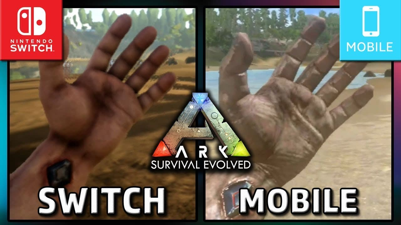 [Act.] Vídeo: Comparación de la versión portátil de Ark: Survival Evolved de Switch y la versión de dispositivos inteligentes