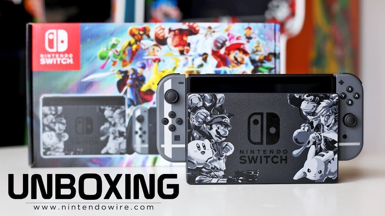 Vídeo: unboxing de la edición especial de Nintendo Switch con Super Smash Bros. Ultimate