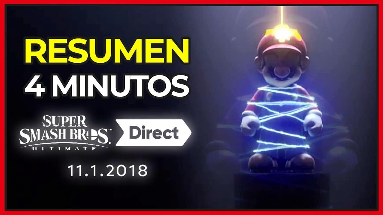 [Vídeos] Resumen en 4 minutos y más del Super Smash Bros. Ultimate Direct