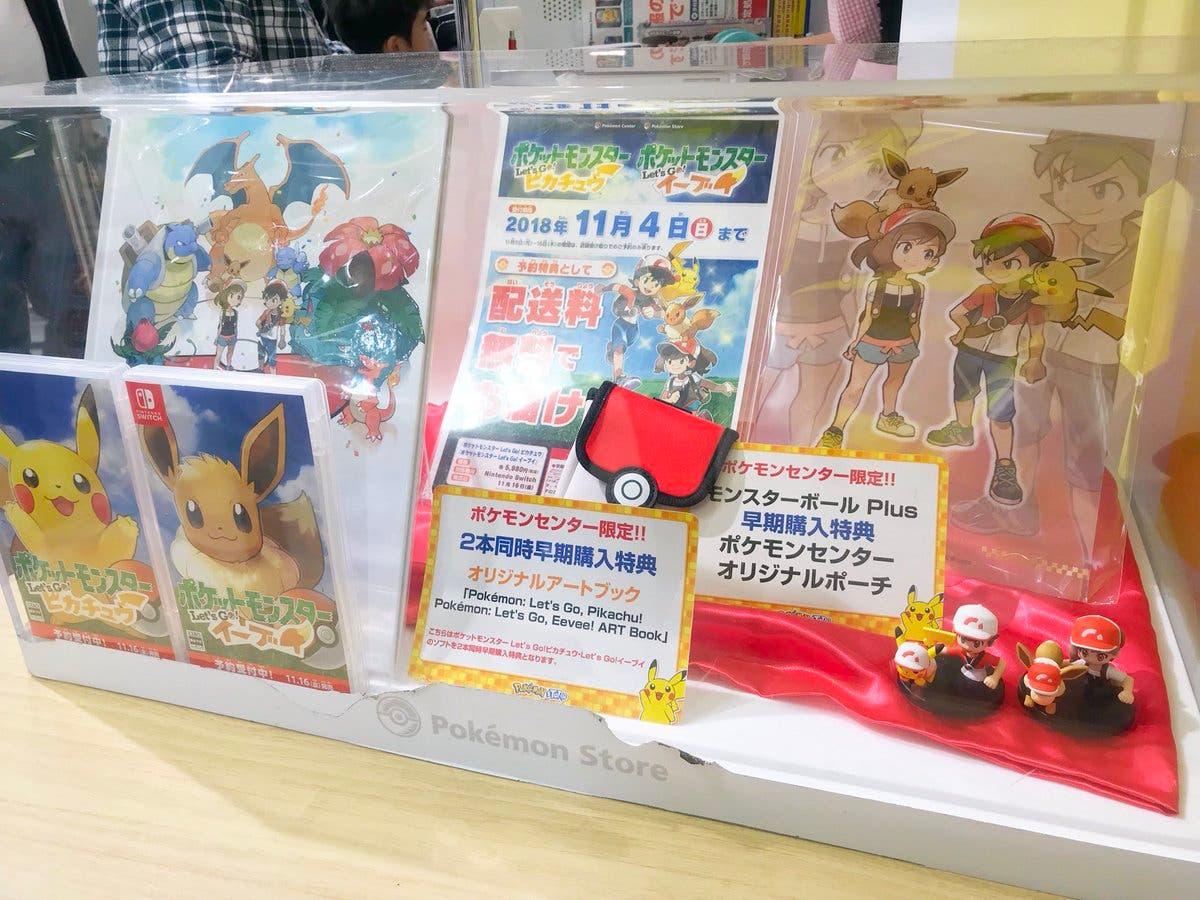 Nuevas imágenes de los regalos que ofrecen los Pokémon Center por la precompra de Pokémon: Let's Go, Pikachu! / Eevee!