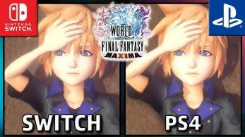 Vídeo: comparación gráfica entre World of Final Fantasy Maxima para Switch y PS4