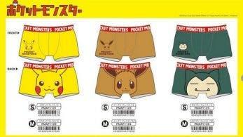 Esta ropa interior con estampado de Pokémon llegará a Japón en marzo de 2019