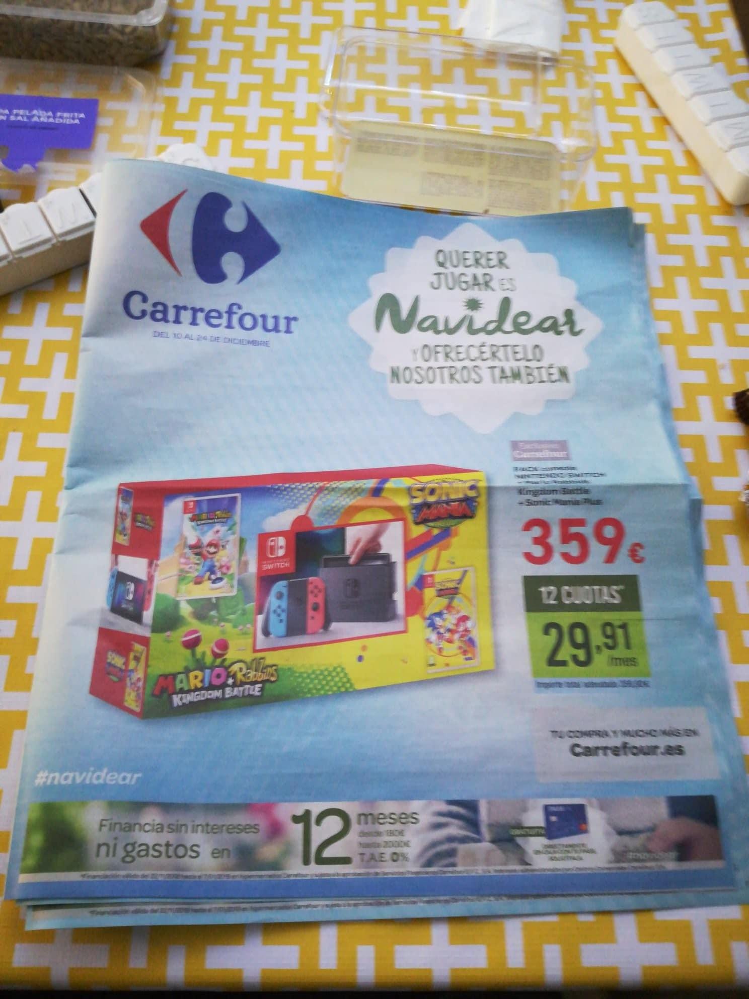 Carrefour Ofrece Un Pack De Nintendo Switch Con Sonic Mania Y Mario