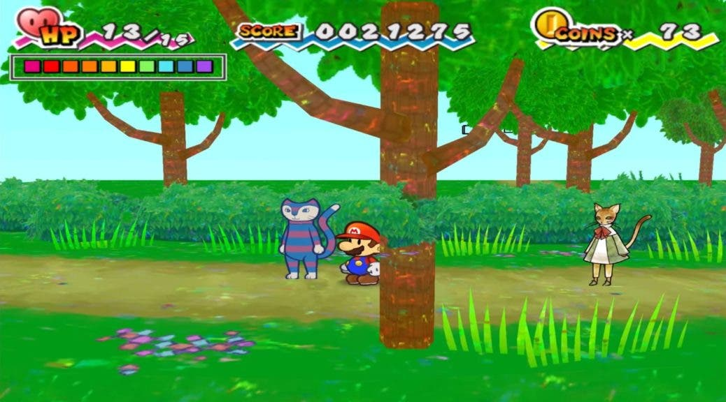 Hallan unos extraños sprites gatunos nunca usados en Super Paper Mario