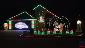 El dueño de esta casa en Texas ha creado un show de luces nintendero de 9 minutos