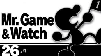 Mr. Game & Watch protagoniza la entrada de hoy del blog oficial de Super Smash Bros. Ultimate