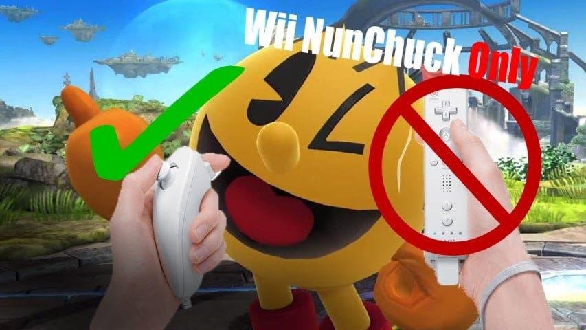 Así es jugar a Super Smash Bros. Ultimate solo con un Nunchuk de Wii