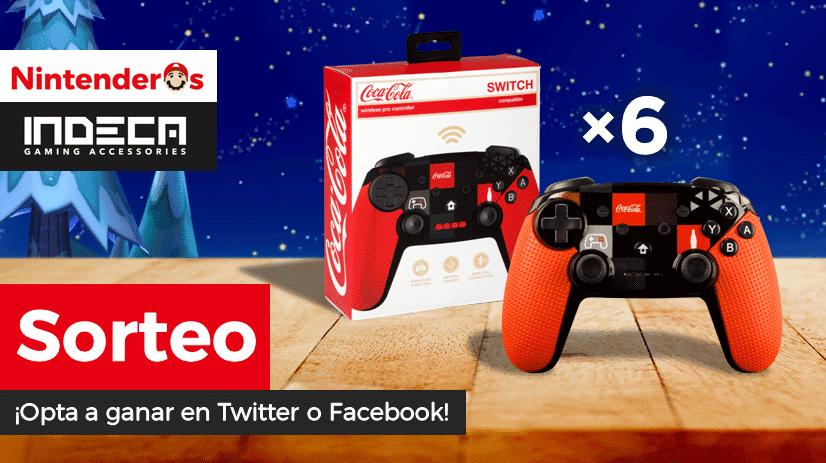 [Act.] ¡Sorteamos 6 Mandos Pro Wireless Nintendo Switch Coca-Cola junto a Indeca Business!