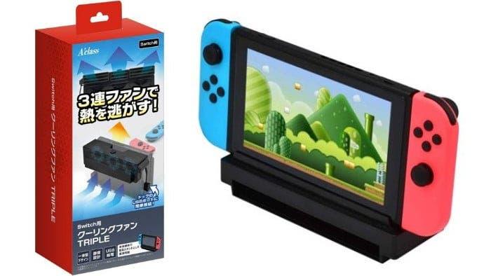 Este ventilador para el dock de Nintendo Switch puede usarse también como stand fuera de él