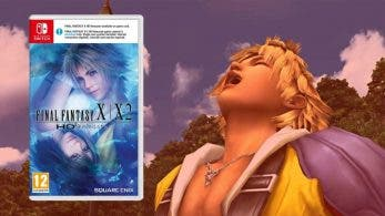 El boxart europeo de Final Fantasy X / X-2 HD Remaster para Switch parece contar con la franja blanca de descarga adicional