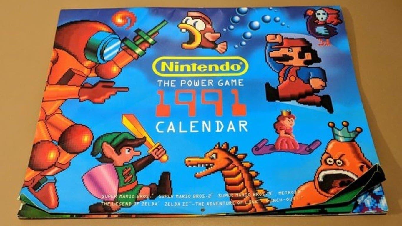 El calendario clásico de Nintendo de 1991 que te servirá para este 2019