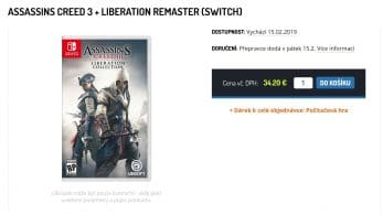 [Rumor] Varias tiendas listan Assassin's Creed III + Liberation Collection para Nintendo Switch