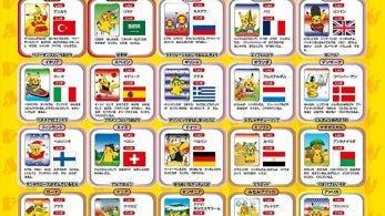 Esta imagen oficial nos muestra a Pikachu en diferentes países del mundo