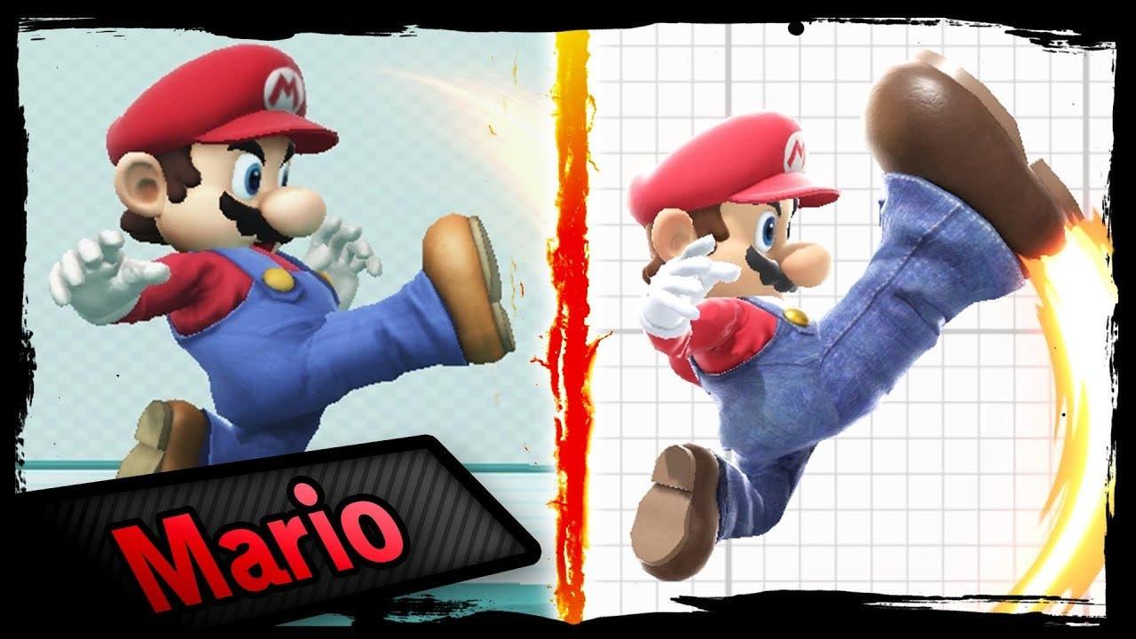 Comparativa en vídeo de la animación de los movimientos en Super Smash Bros. for Wii U y Super Smash Bros. Ultimate