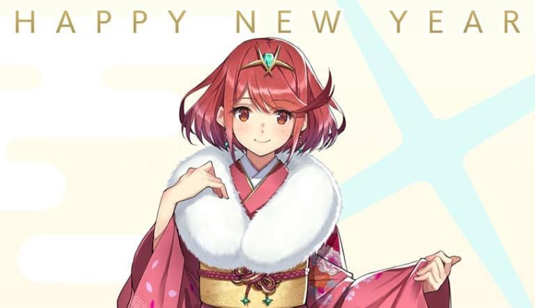 Monolith Soft regalará 300 postales de Pyra deXenoblade Chronicles 2 con kimono en Japón